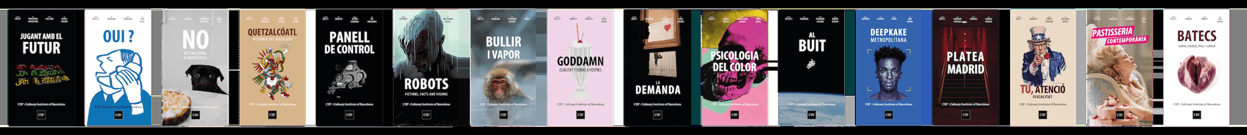 Conjunt de posters de les sessions impartides en el Culinary Institute of Barcelona